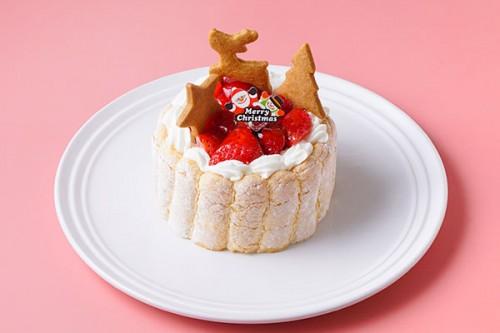 クリスマスケーキ2018 乳幼児向けヨーグルト苺ケーキ 3号 9cm