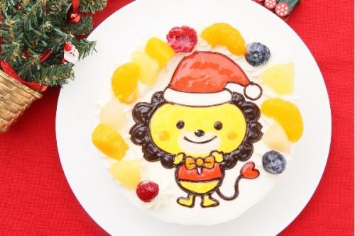 クリスマスケーキ2018 イラスト生クリームデコレーションケーキ 5号 15cm
