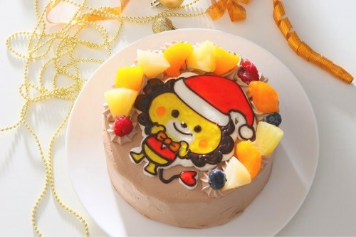 クリスマスケーキ2018 イラストチョコ生クリームデコレーションケーキ 5号 15cm
