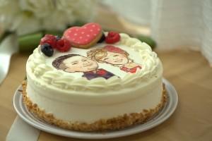似顔絵ケーキ レアチーズケーキ 5号 15cm