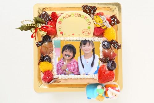 クリスマスケーキ2017 生チョコフォトケーキ 16cm×16cm