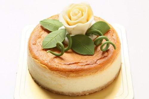 ベイクドホワイトチョコチーズケーキ バラ 5号