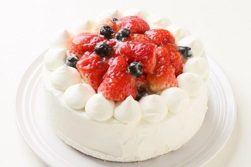 卵・乳製品・小麦粉除去可能 デコレーションケーキ 5号 15cm