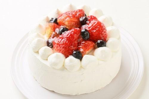 乳製品・小麦粉除去可能 デコレーションケーキ 5号 15cm
