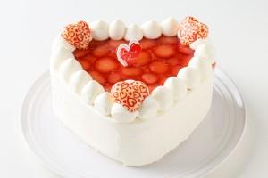 バレンタイン限定 ハート型苺デコレーション 4号 12cm