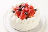 卵・乳製品・小麦粉除去可能 デコレーションケーキ 4号 12cm