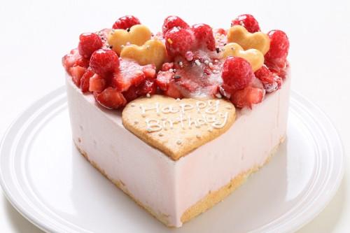 いちごアイスクリームのデコレーションケーキ 5号 15cm