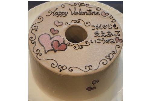 バレンタイン限定 お手紙ケーキ 直径17cm