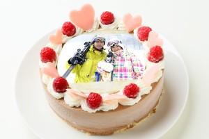 バレンタイン限定写真ケーキ フロマージュ・オ・ショコラ 4.5号 13.5cm