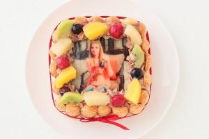 スペシャルチョコフォトケーキ 15×15cm