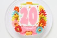 乳製品・小麦粉除去可能 デコもり。Happy Number birthdaycake 4号 12cm