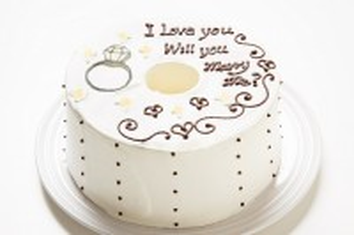 ホワイトデー2019 ホワイトデー限定 プロポーズお手紙ケーキ 直径17cm