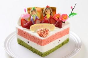ひな祭りハート 砂糖菓子 5号 15cm ひなまつり限定