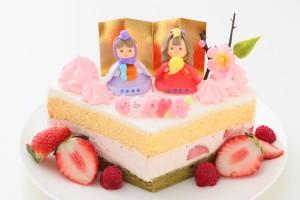 ひな祭りデコレーションケーキ 15cm ひなまつり限定