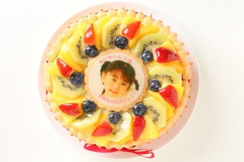 写真ケーキ ビスキュイ付き生クリームデコレーション 4号 12cm