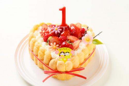 乳幼児向け(初節句にも)ハート型ヨーグルトケーキ 3号 9cm ひなまつり限定