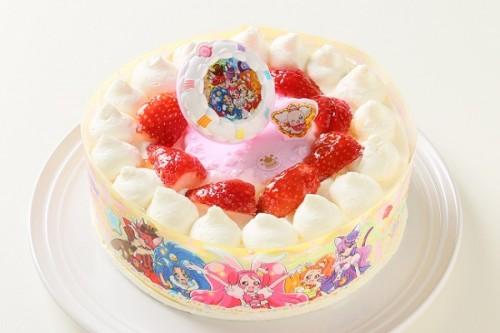乳製品・小麦粉除去可能 生デコレーションケーキ プリキュアアラモード 5号 15cm
