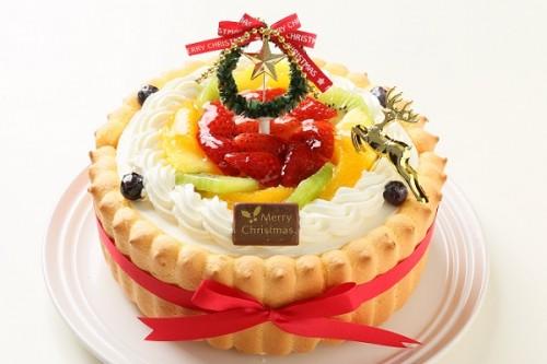 クリスマスケーキ2017 贅沢生クリームデコレーション ビスキュイ付き 5号 15cm