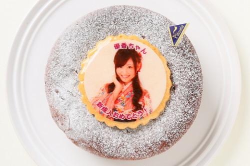 写真ケーキ ガトーショコラ 4号 12cm