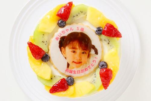 写真ケーキ 生クリームデコレーション 5号 15cm