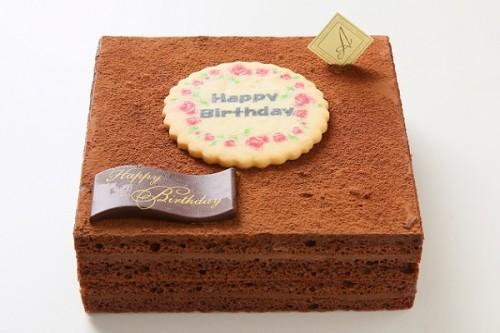 チョコガナッシュケーキ 9cm×9cm