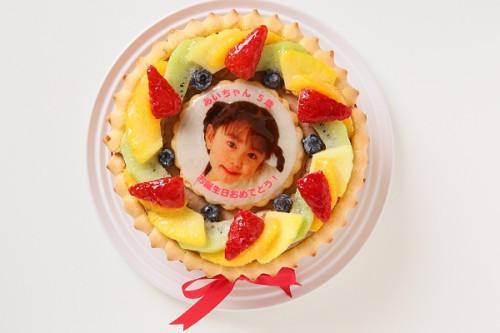写真ケーキ ビスキュイ付き生チョコデコレーション 5号 15cm