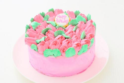 3Dお花畑ケーキ 5号 15cm