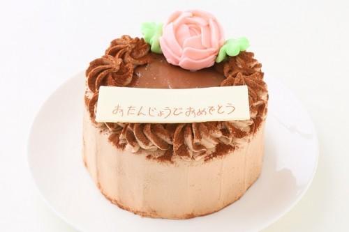 生チョコの薔薇デコレーション 5号 15cm