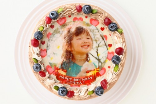写真ケーキ チョコ 4号 12cm