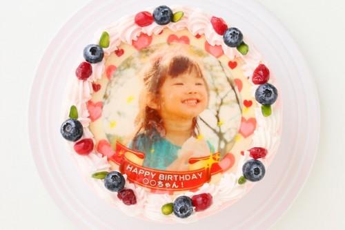写真ケーキ イチゴ 4号 12cm