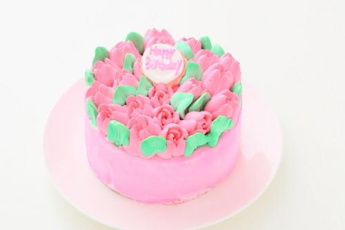 3Dお花畑ケーキ 4号 いちご 生クリーム 12cm