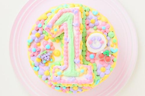 立体ナンバーケーキ 4号 数字1桁のみ 生クリーム 12cm
