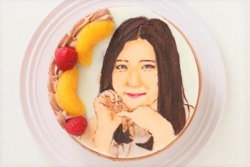 似顔絵ケーキ チョコ 5号 15cm