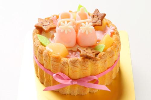 ファーストバースデーケーキ~ヨーグルト+シューズ~ 3号 9cm