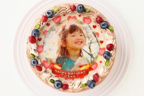 写真ケーキ チョコ 5号 15cm