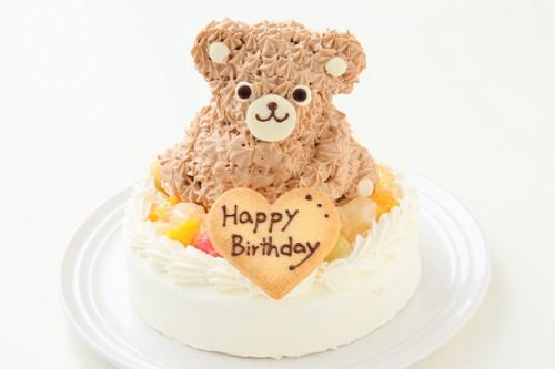 土台型 くまちゃんデコレーションケーキ ブラウン 土台部分15cm 高さ11cm