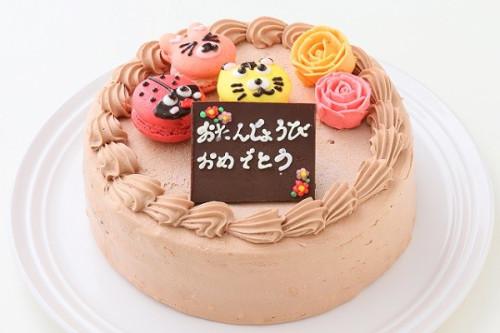 マカロンチョコ生ケーキ 3個付き  5号 15cm