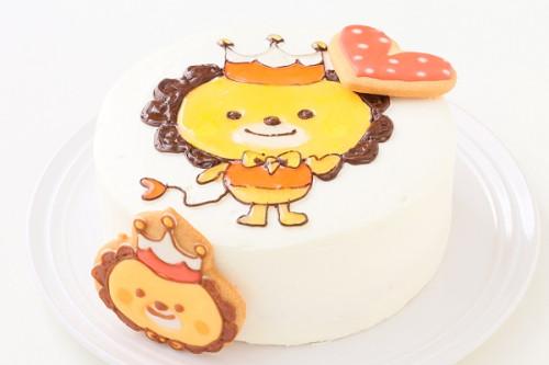 乳製品除去 アイシングクッキーのイラストデコレーションケーキ 5号 15cm