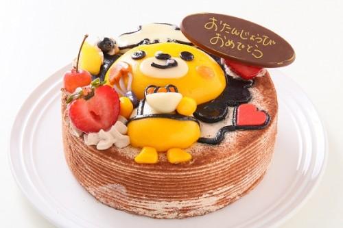 土台あり 立体キャラクターケーキ ショコラ 5号 15cm
