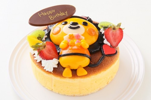 土台あり 立体キャラクターケーキ スフレチーズケーキ 5号 15cm