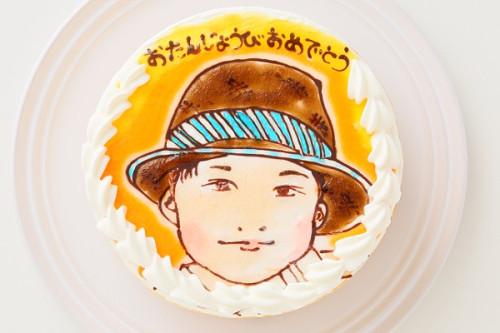 似顔絵デコレーションケーキ ガトーフロマージュ 4号 12cm