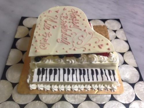 ホワイトピアノデコレーション 30cm