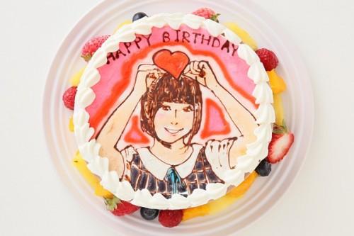 似顔絵デコレーションケーキ チョコ生クリーム 5号 15cm