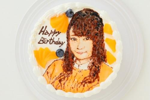 似顔絵ケーキ チョコスポンジ 5号 15cm