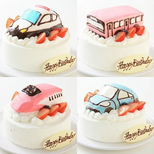乗り物ケーキ 4号 12cm