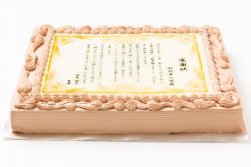 パーティ用感謝状ケーキ 30cm×40cm