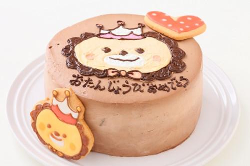 アイシングクッキーのイラストデコレーションケーキ チョコ生 5号 15cm