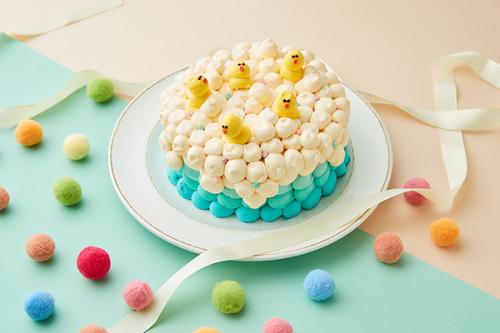 アヒルプールバタークリームデコレーションケーキ 4号 12cm