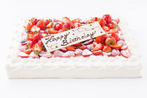 イチゴ好きにはたまらない たっぷりイチゴのスクエアデコレーション 30cm×40cm