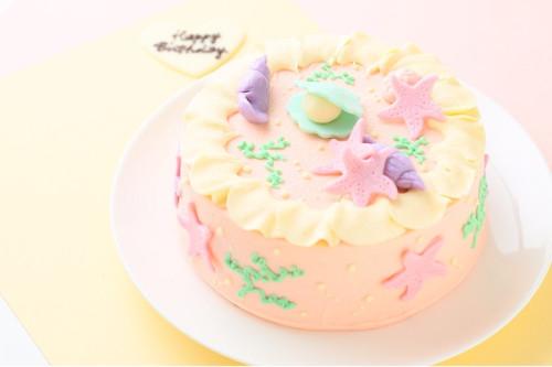 マーメイドバタークリームデコレーションケーキ 4号 12cm